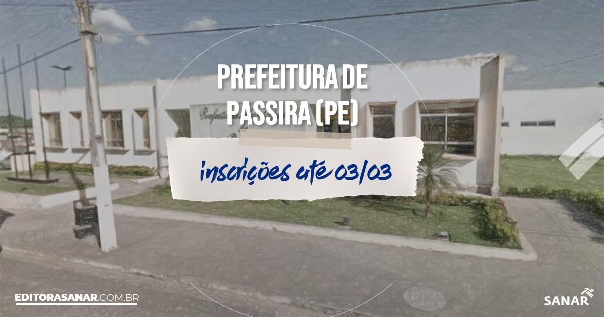Concurso de Passira - PE: salários de até R$10 mil na Saúde!