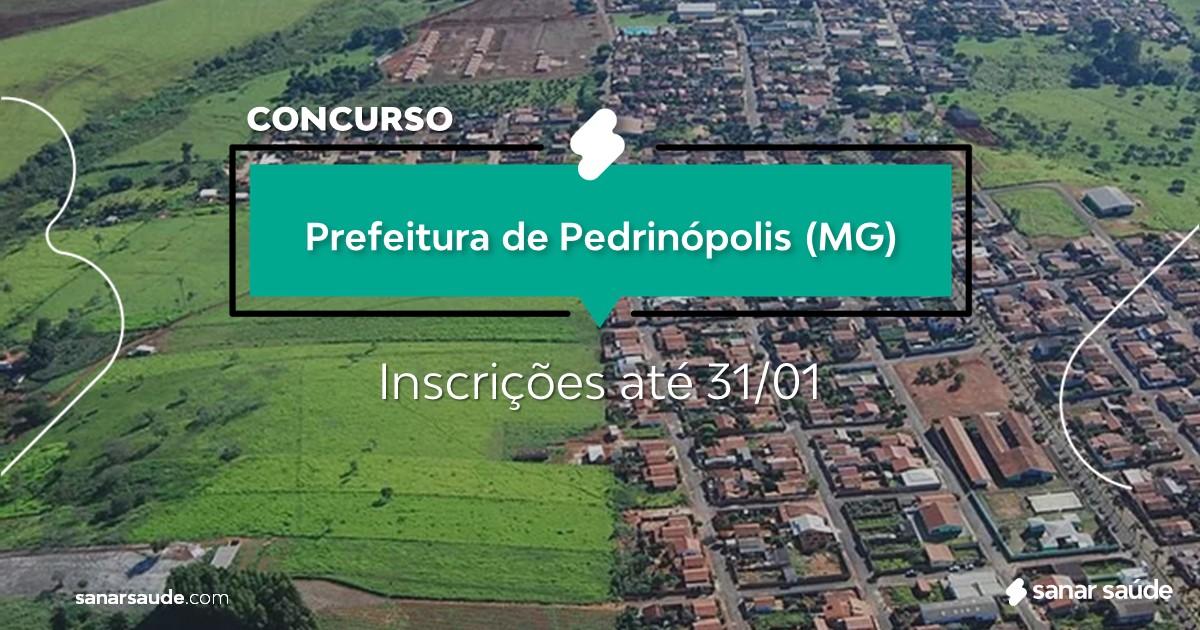 Concurso de Pedrinópolis - MG: vagas imediatas na Saúde!