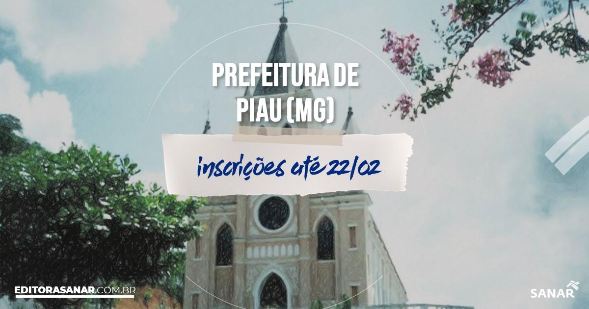 Concurso de Piau - MG: cargos na Saúde!
