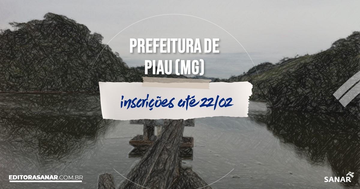 Concurso de Piau - MG: vagas imediatas na Saúde!