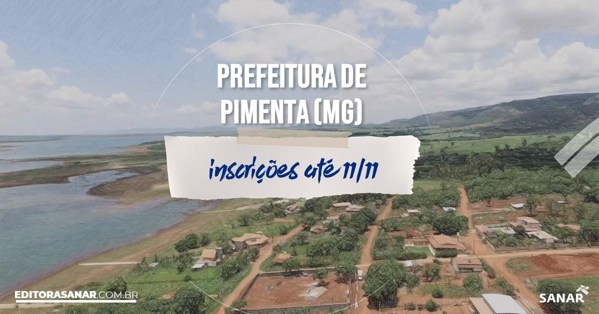Concurso de Pimenta - MG: vaga na Saúde para nutricionista!