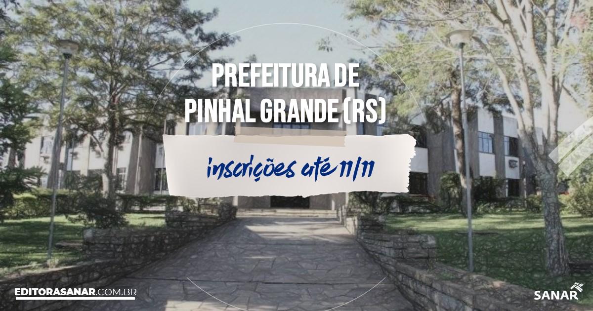 Concurso de Pinhal Grande - RS: cargos na Saúde!