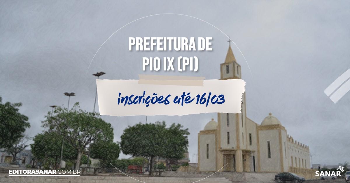 Concurso de Pio IX - PI: vagas imediatas na Saúde!
