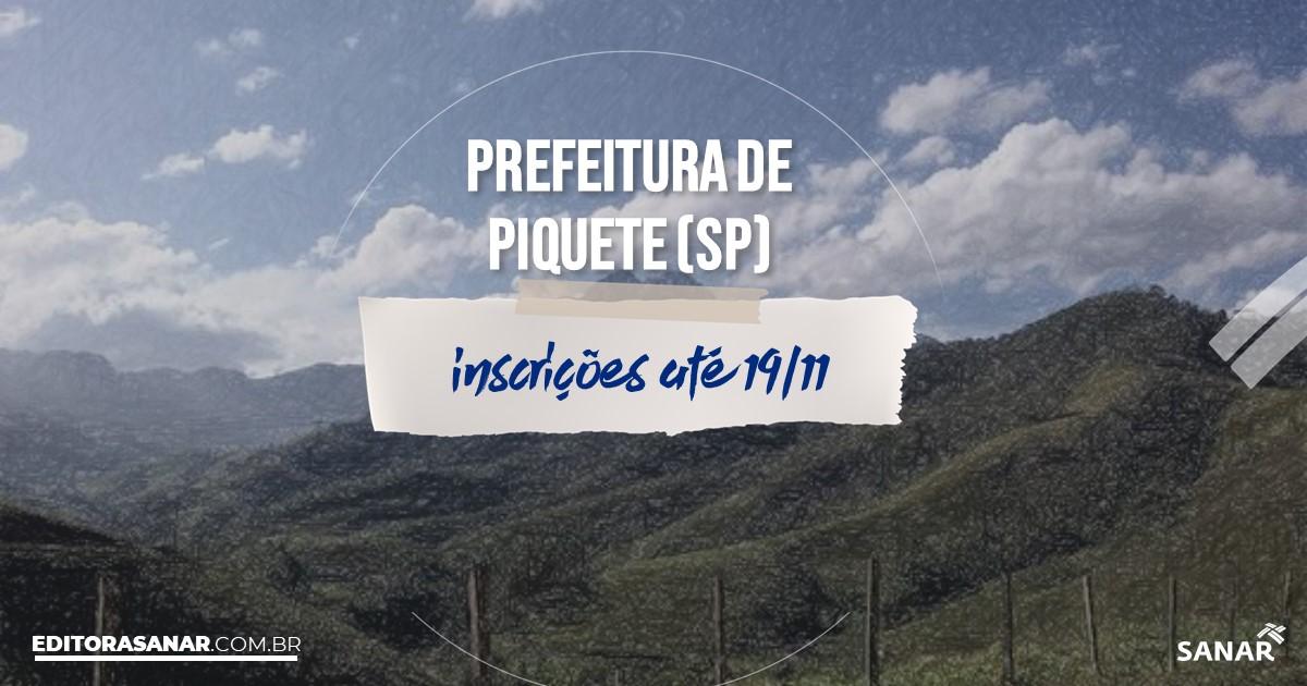 Concurso de Piquete - SP: cargos na Saúde!