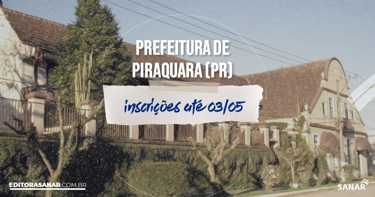 Concurso de Piraquara - PR: na Saúde, salários de até R$11,4 mil!