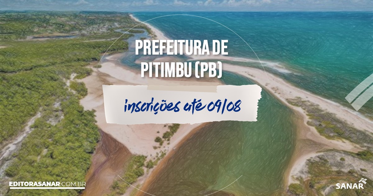 Concurso de Pitimbu - PB: vagas imediatas na Saúde!