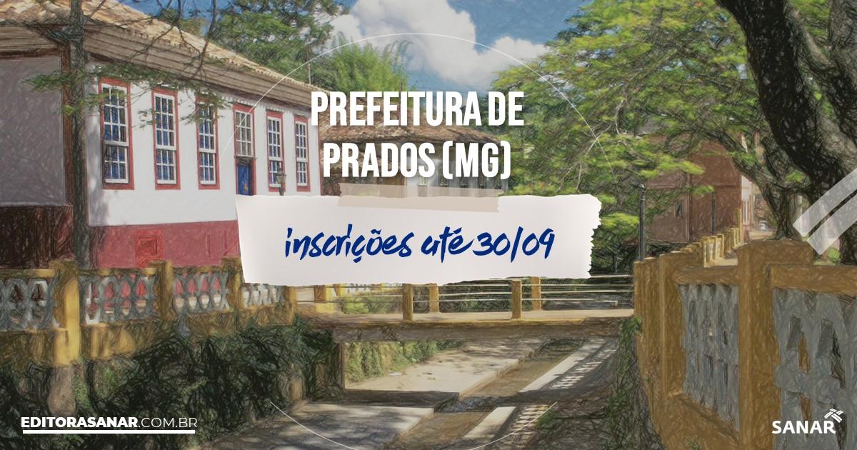 Concurso de Prados - MG: vagas imediatas na Saúde!