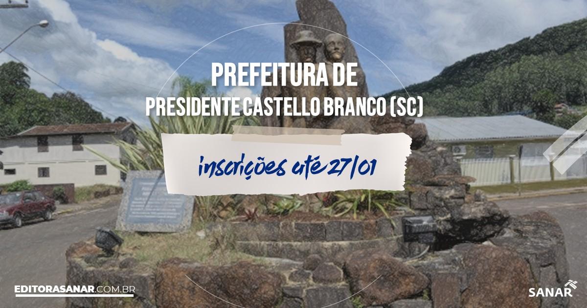 Concurso de Presidente Castello Branco - SC: vagas na Saúde!