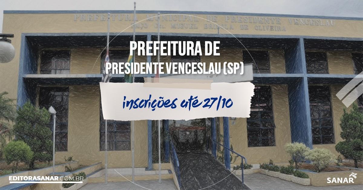 Concurso de Presidente Venceslau – SP: vagas na Saúde!