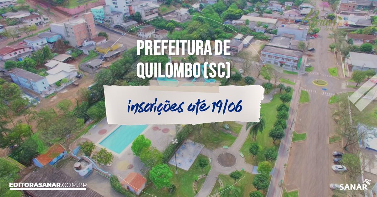 Concurso de Quilombo - SC: salários de até R$6,5 mil na Saúde!