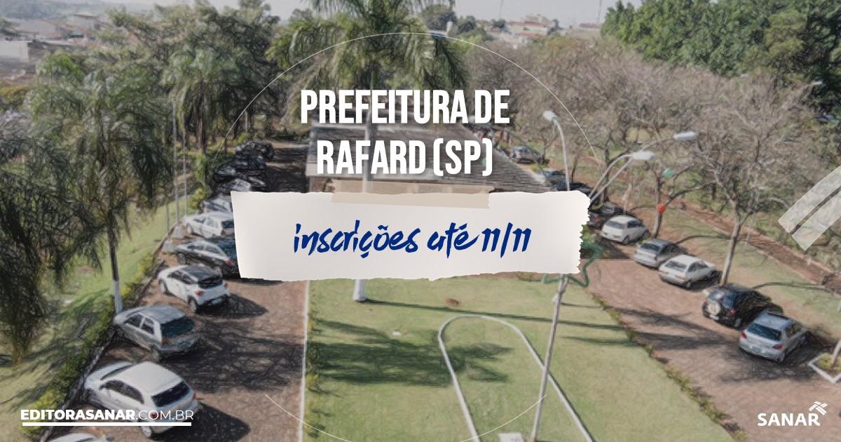 Concurso de Rafard - SP: cargos na Saúde!