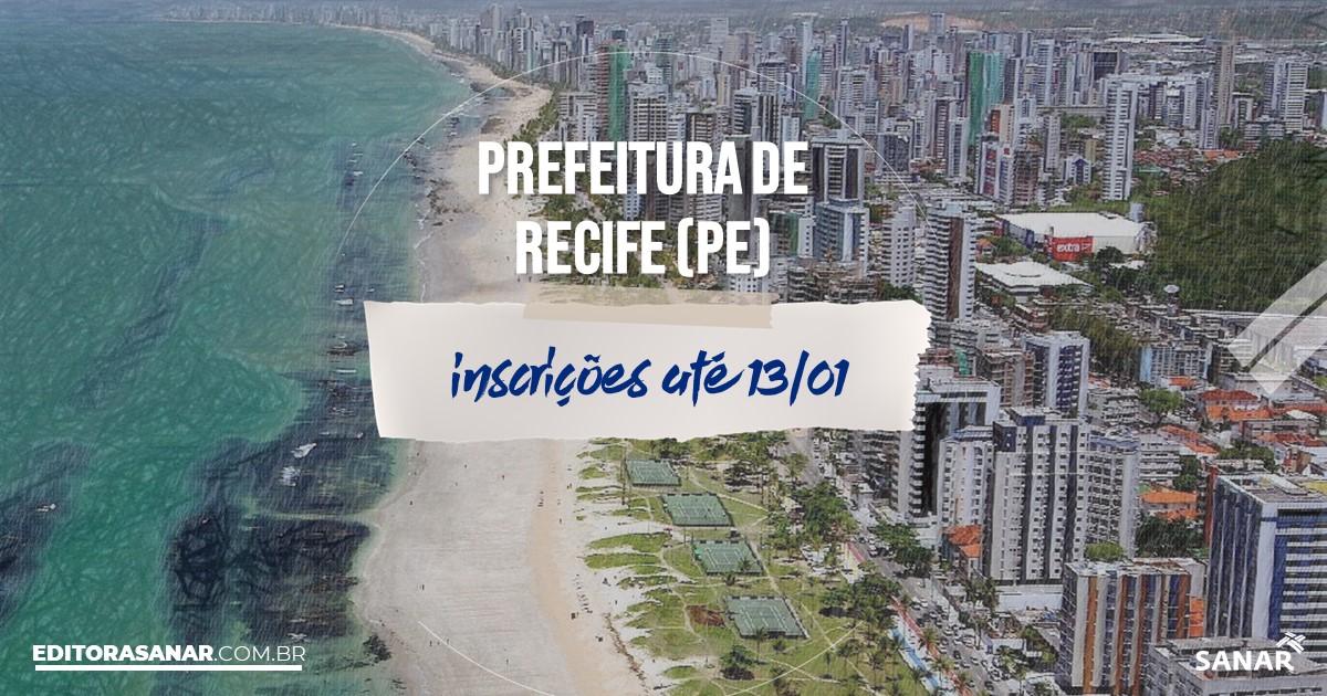 Concurso de Recife - PE: salários na Saúde de até R$13 mil!