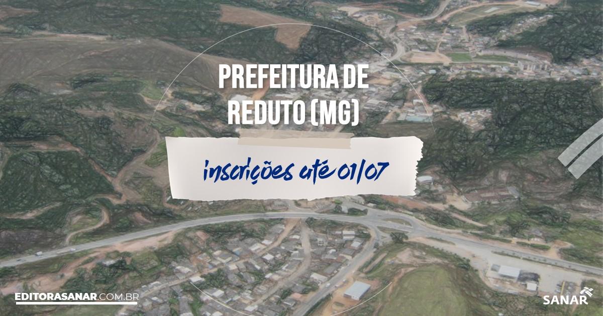 Concurso de Reduto - MG: salários de até R$11 mil na Saúde!