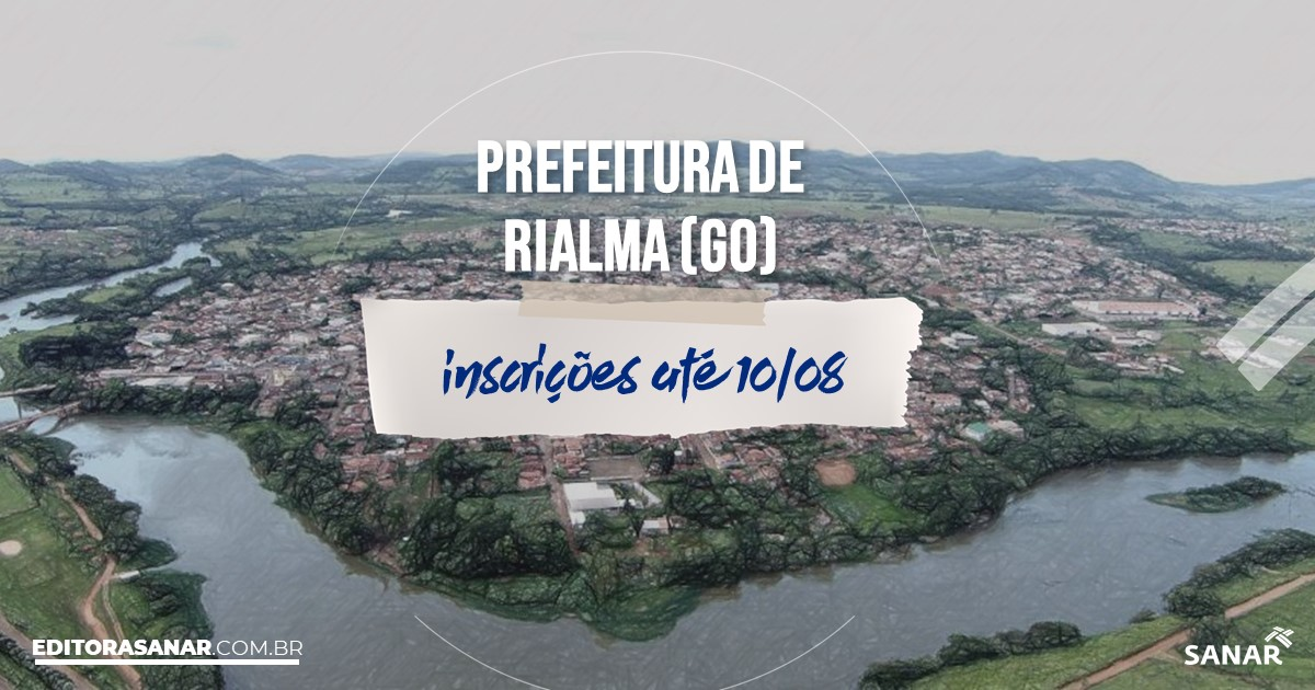 Concurso de Rialma - GO: salários de até R$8 mil na Saúde!