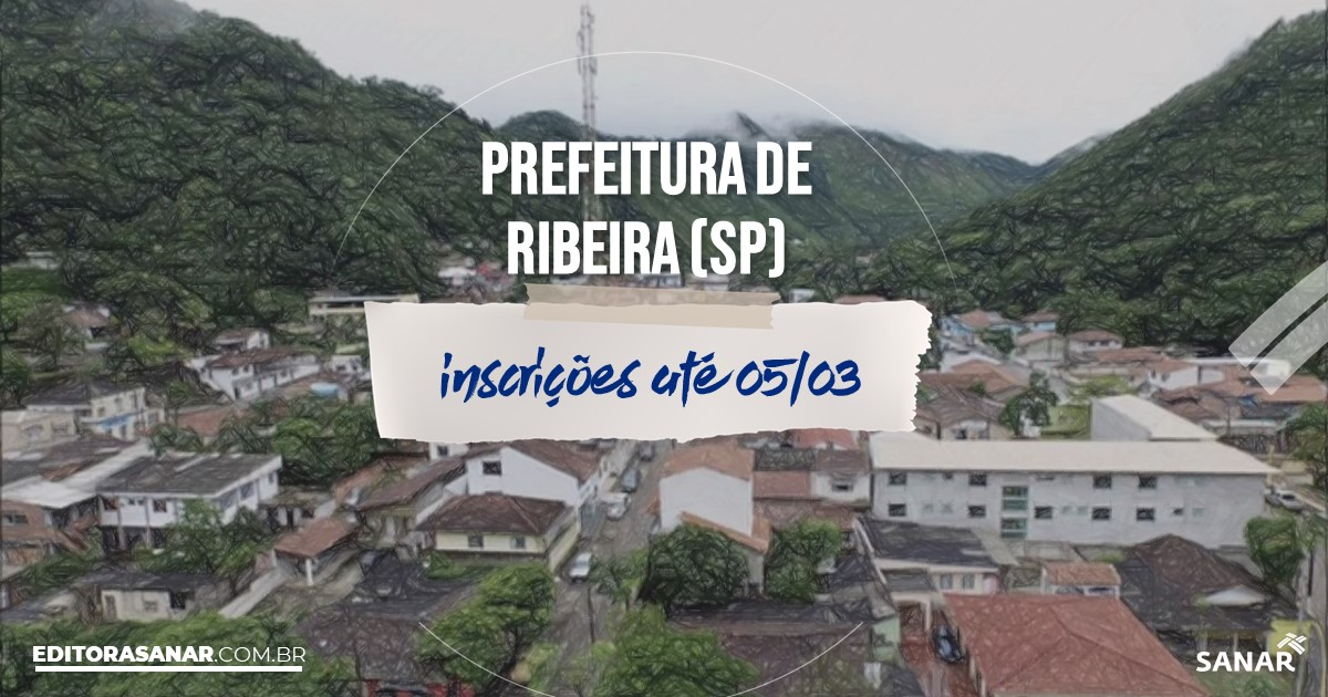 Concurso de Ribeira - SP: vagas imediatas na Saúde!