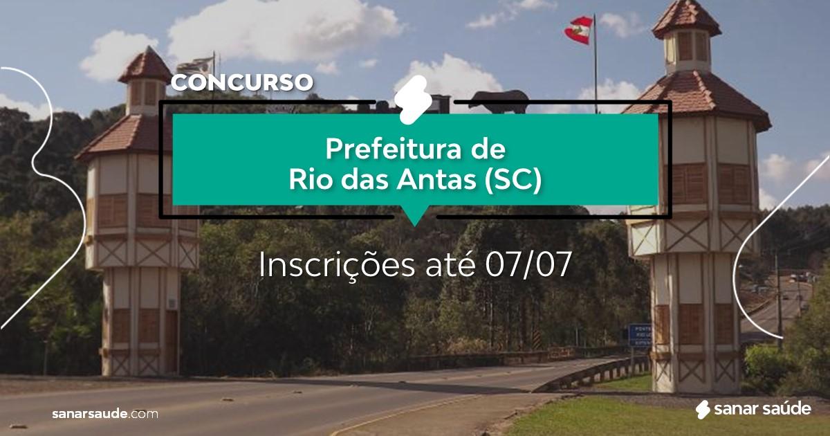 Concurso de Rio das Antas - SC: salários até R$14 mil na Saúde!