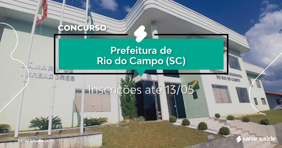 Concurso de Rio do Campo - SC:  vagas na Saúde!