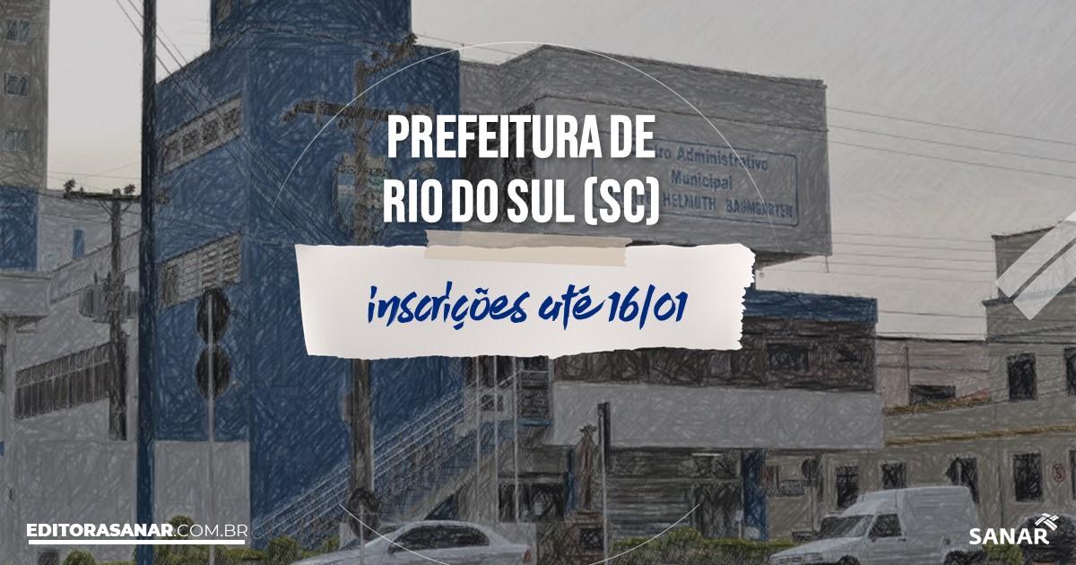 Concurso de Rio do Sul - SC: salários na Saúde de até R$13 mil!