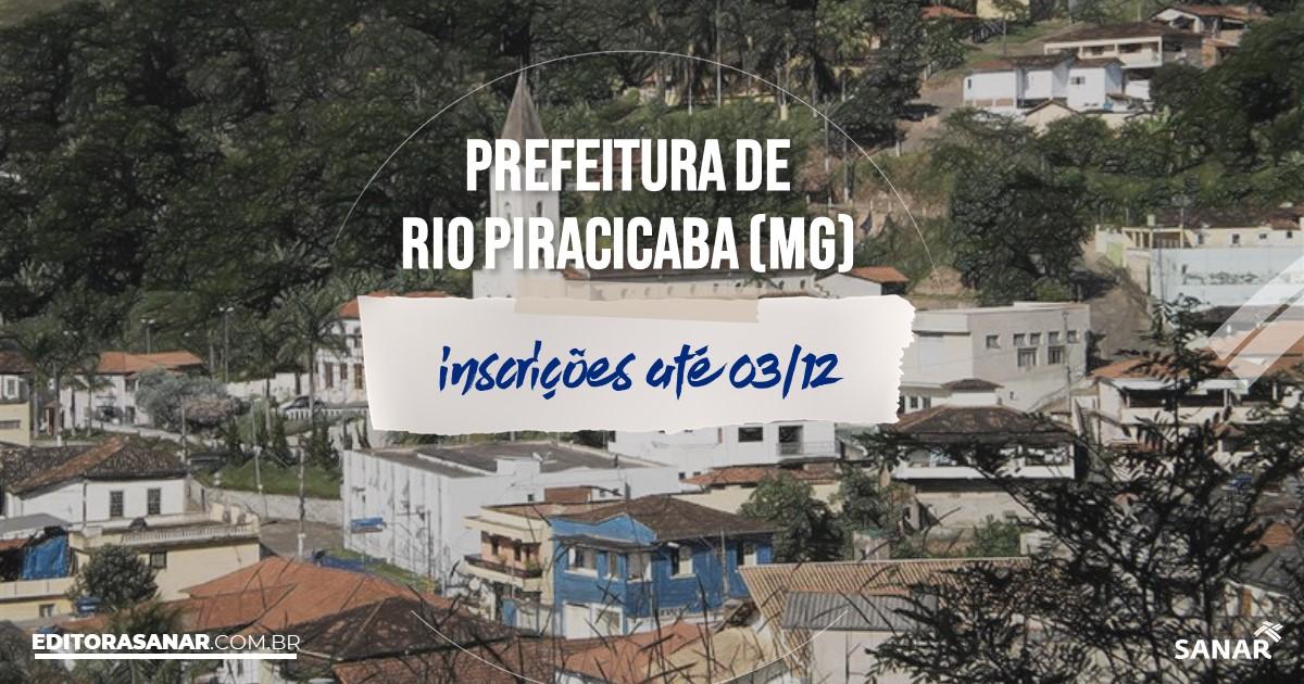 Concurso de Rio Piracicaba - MG: salários até R$12 mil na Saúde!