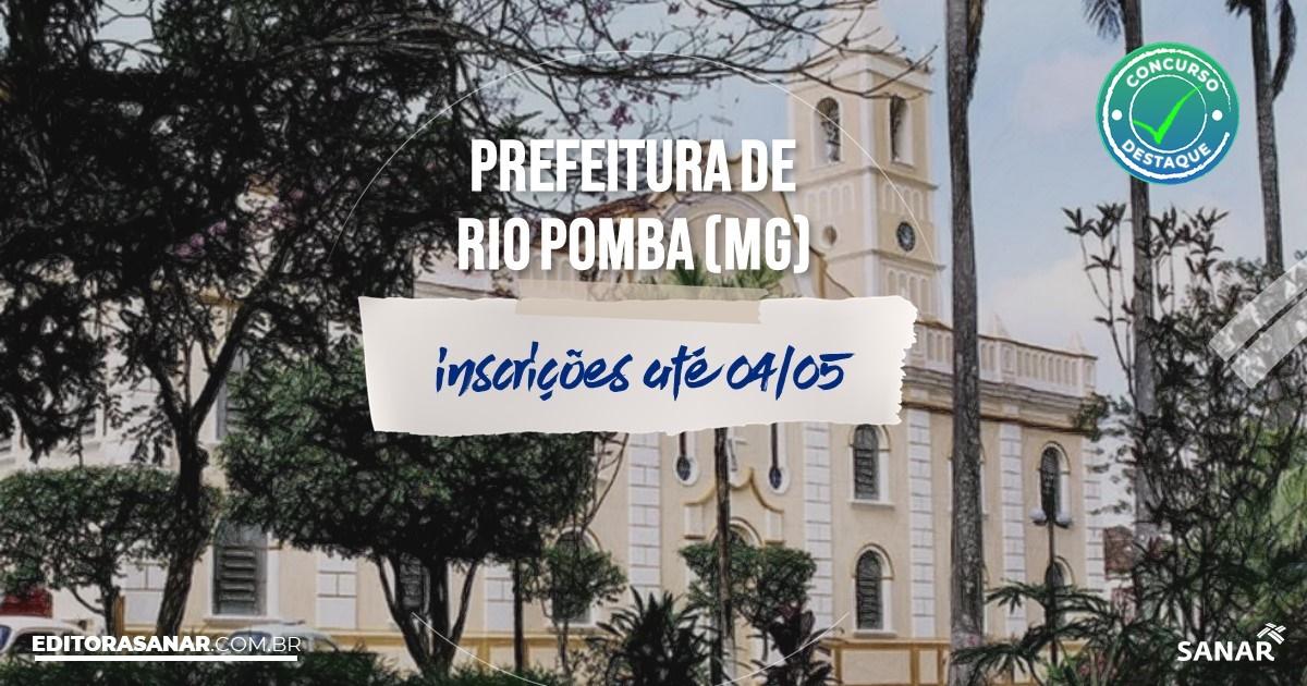 Concurso de Rio Pomba - MG: cargos na Saúde!