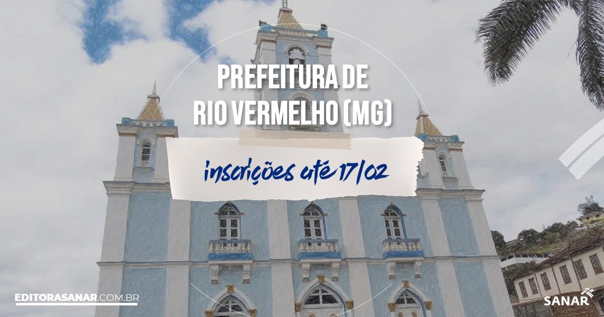 Concurso de Rio Vermelho - MG: salários de até R$12,5 mil na Saúde!