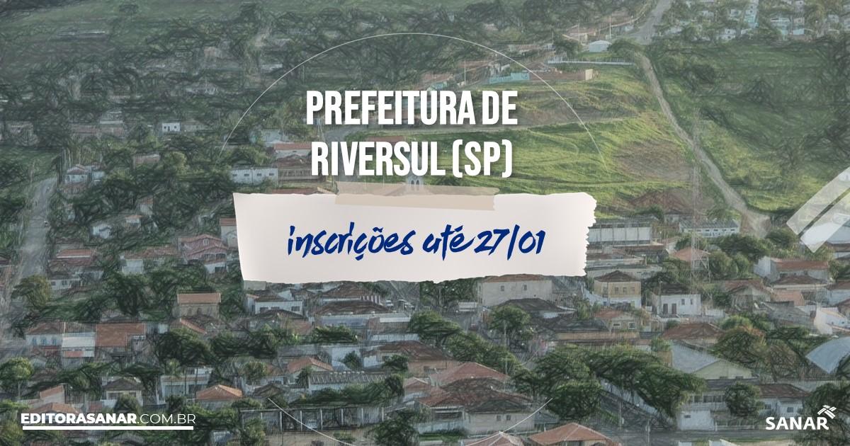 Concurso de Riversul - SP: vagas na Saúde!