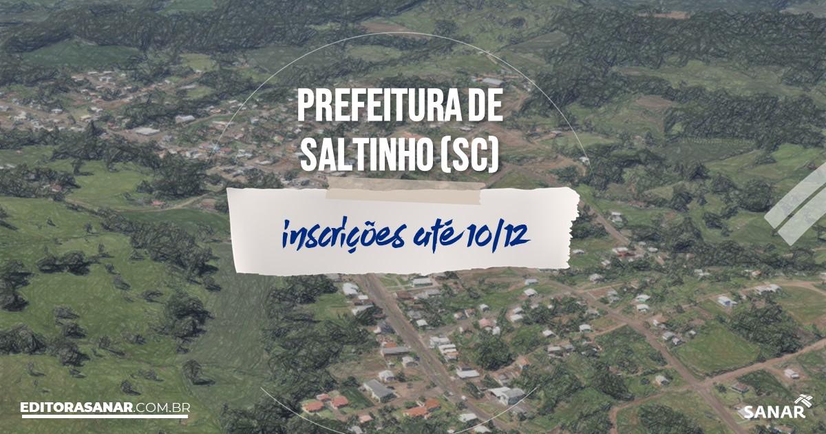 Concurso de Saltinho - SC: vagas na Saúde!