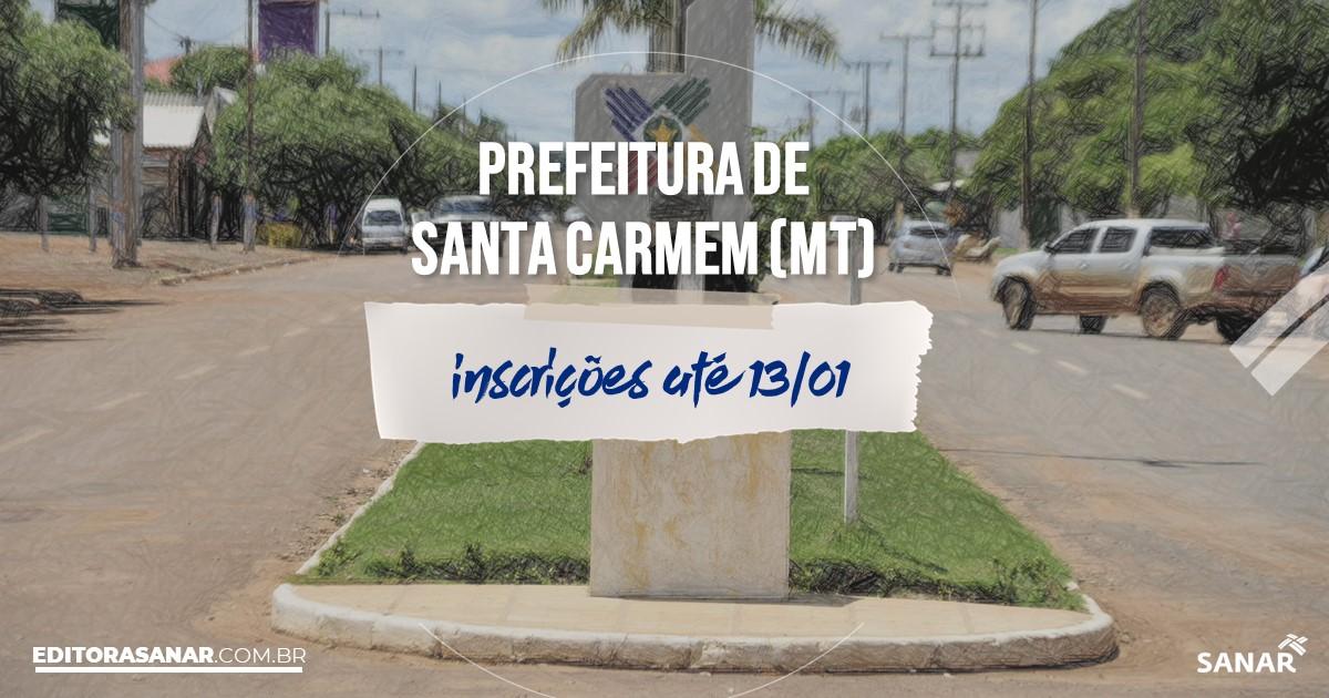 Concurso de Santa Carmem - MT: vaga na Saúde para nutricionista!