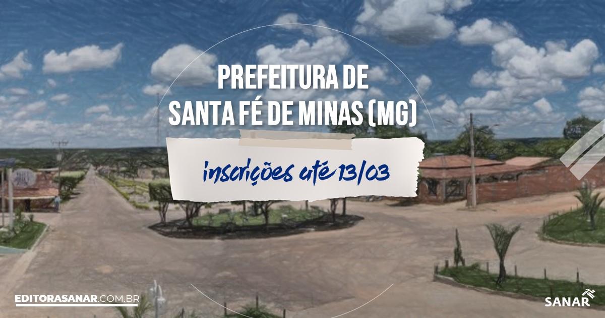 Concurso de Santa Fé de Minas - MG: vagas imediatas na Saúde!