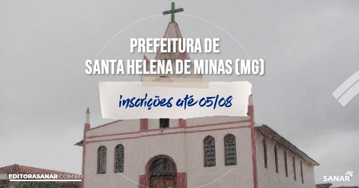 Concurso de Santa Helena de Minas - MG: vagas na Saúde!