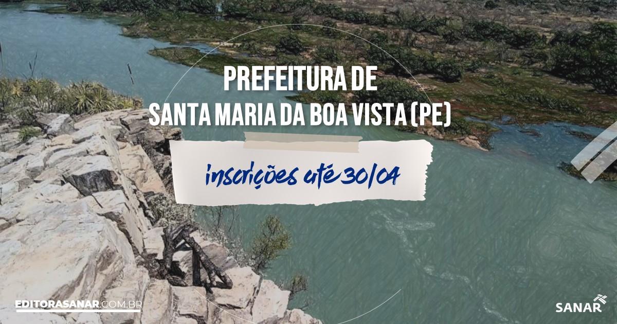 Concurso de Santa Maria da Boa Vista - PE: salários de até R$9 mil na Saúde!