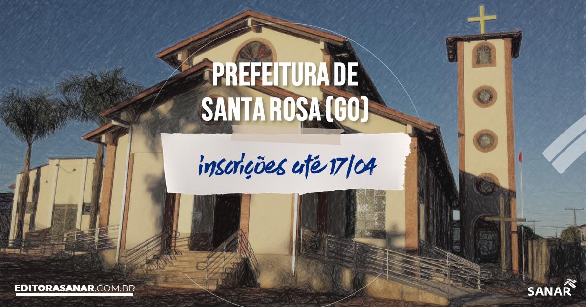 Concurso de Santa Rosa de Goiás - GO: salários na Saúde até R$12,5 mil!