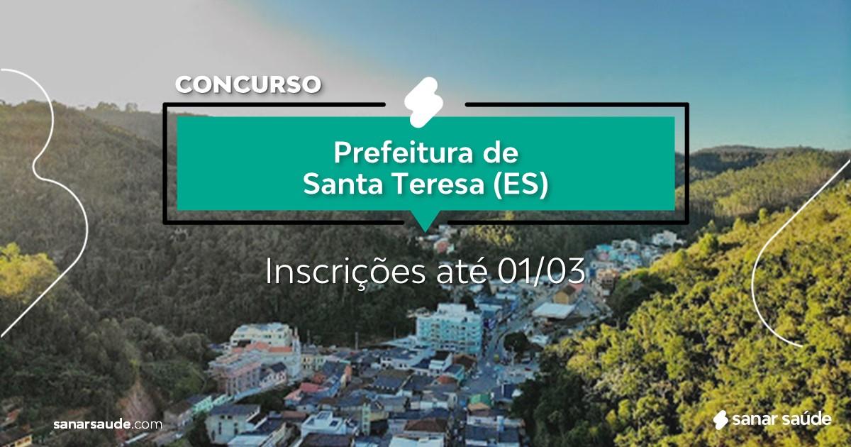 Concurso de Santa Teresa - ES: na Saúde, vagas para psicólogos!