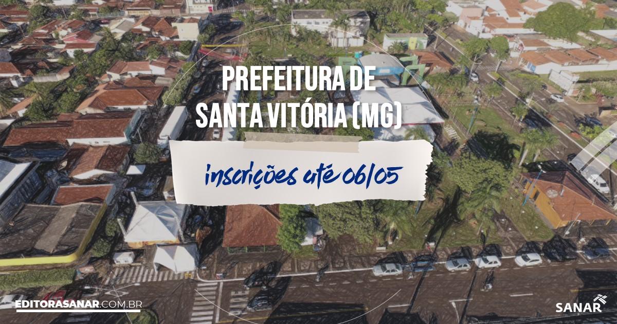 Concurso de Santa Vitória - MG: salários de até R$10 mil na Saúde!