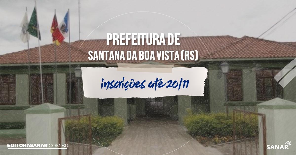 Concurso de Santana da Boa Vista - RS: cargos na Saúde!