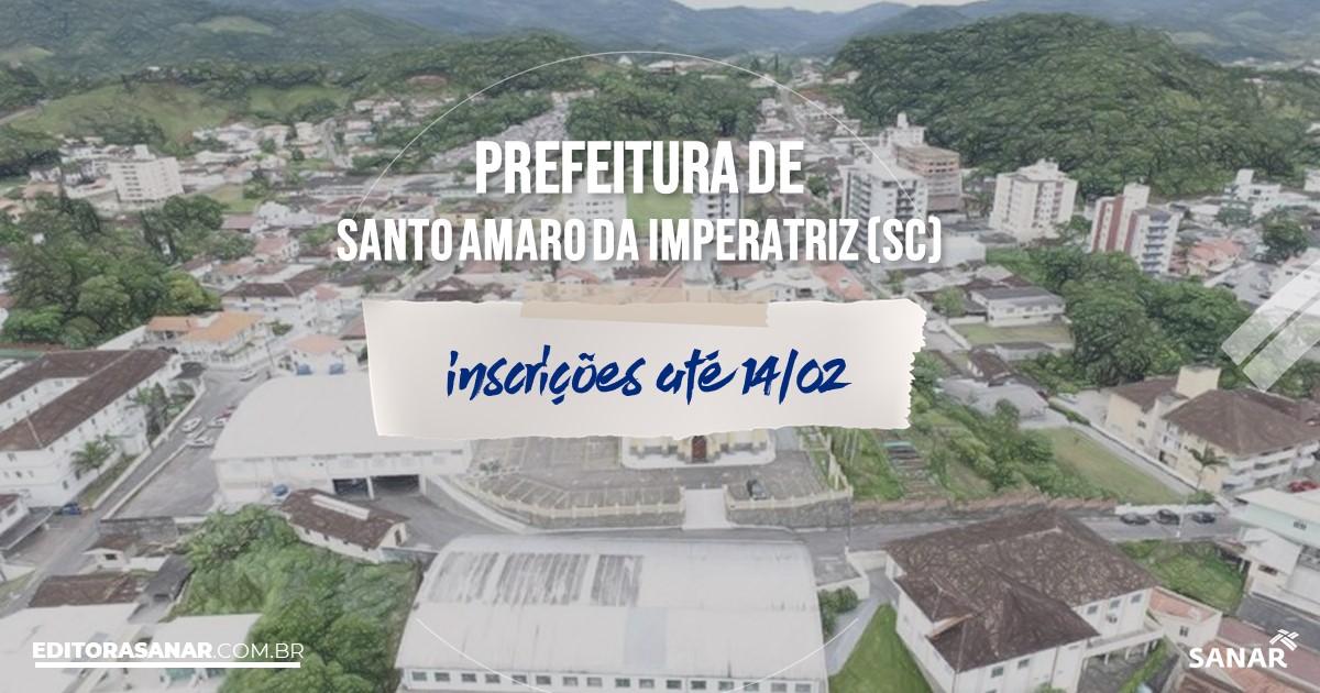 Concurso de Santo Amaro da Imperatriz - SC: vagas na Saúde!