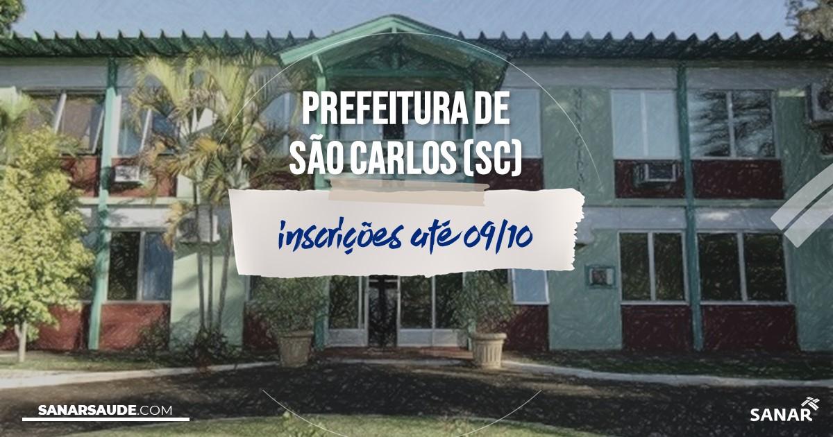 Concurso de São Carlos - SC: salários de até R$14,4 mil na Saúde!
