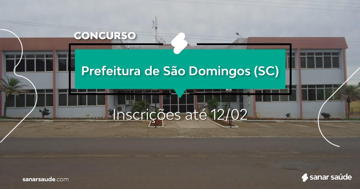 Concurso de São Domingos - SC: vagas na Saúde para nutricionistas!