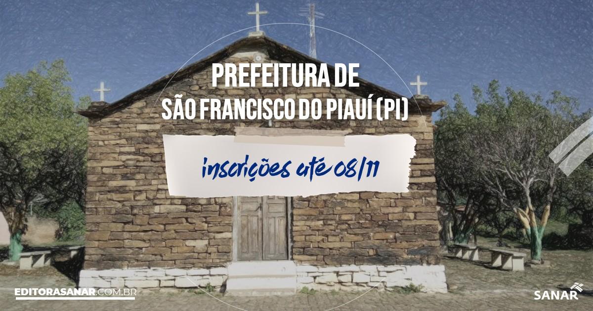 Concurso de São Francisco do Piauí - PI: vagas na Saúde!