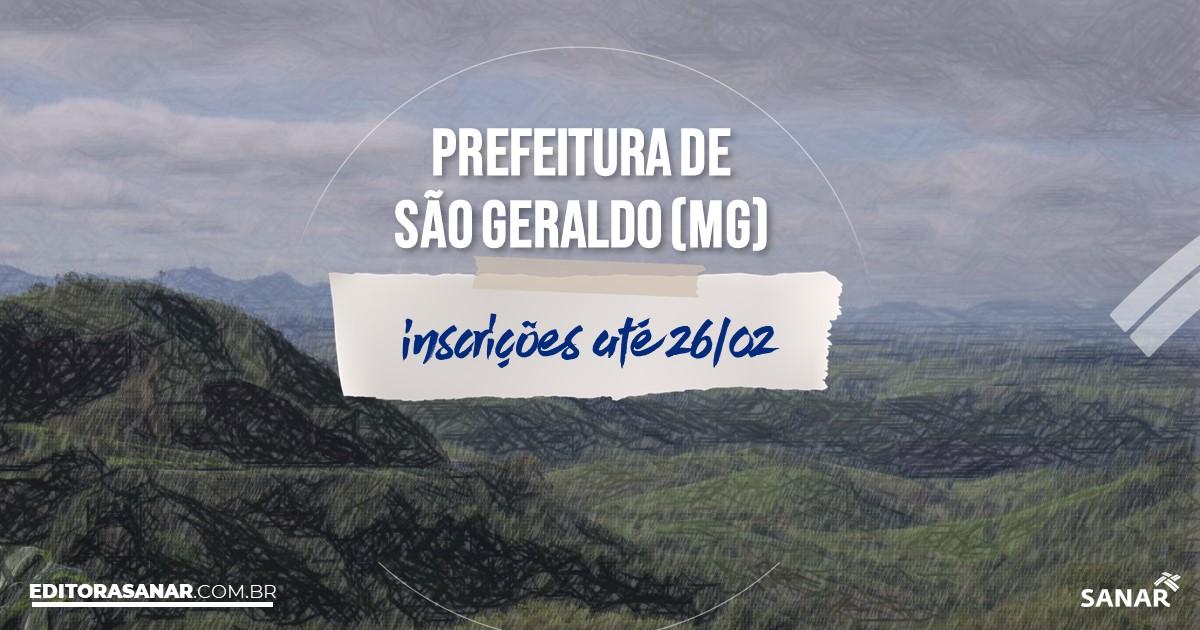 Concurso de São Geraldo - MG: salários na Saúde de até R$7 mil!