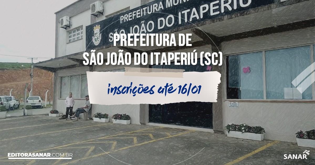 Concurso de São João do Itaperiú - SC: vaga na Saúde para nutricionista!