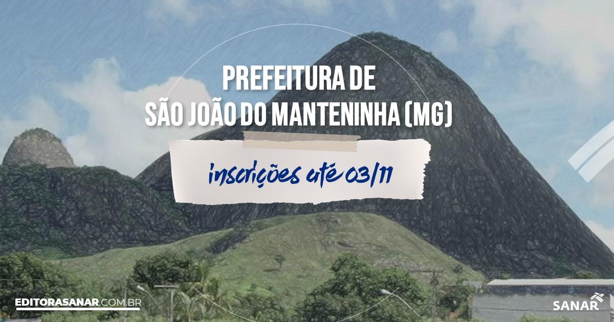 Concurso de São João do Manteninha - MG: vagas na Saúde!