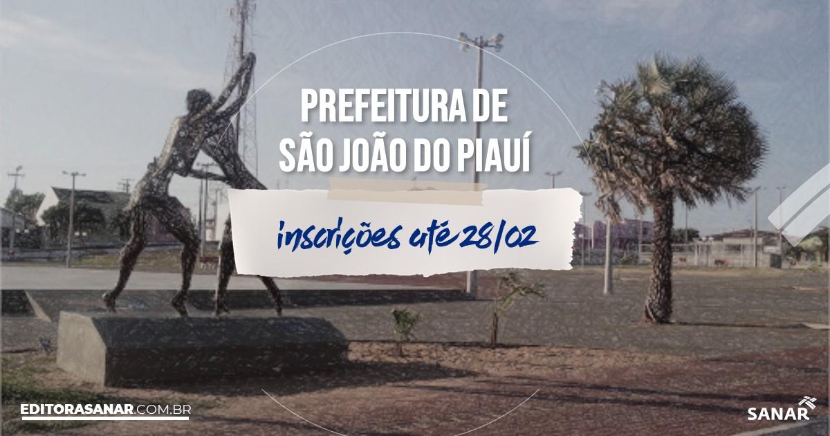 Concurso de São João do Piauí - PI: salários até R$10 mil na Saúde!