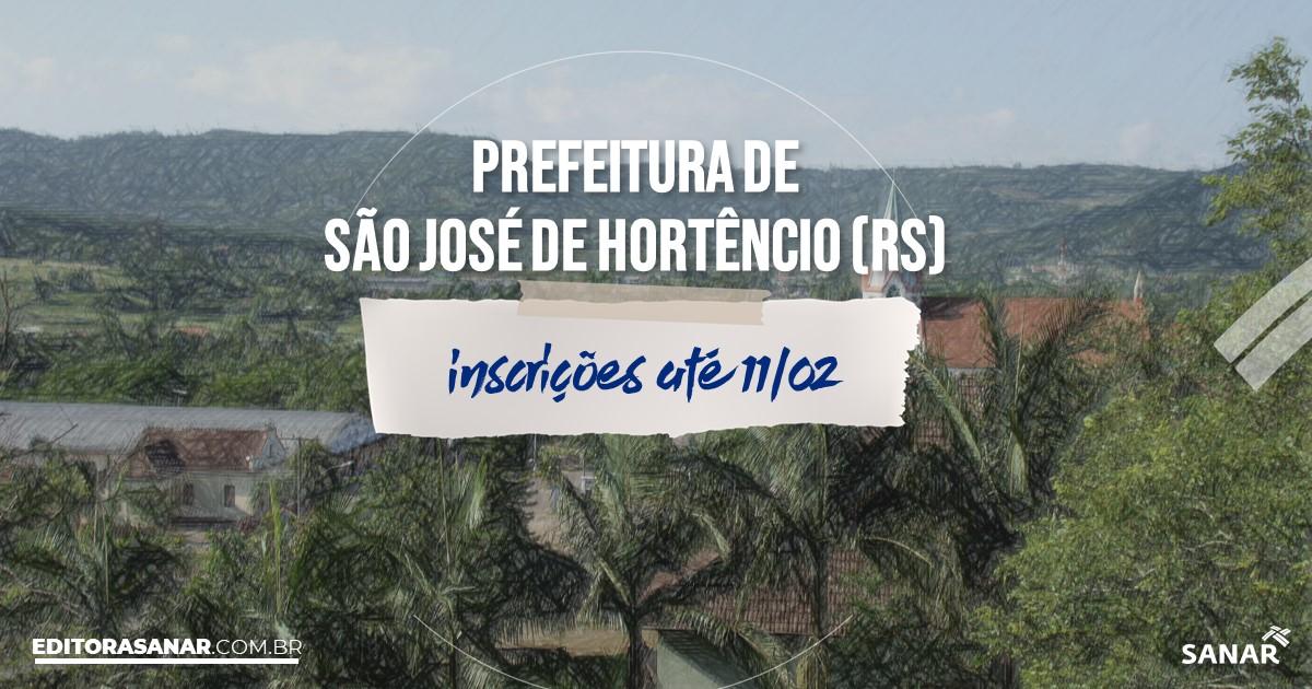 Concurso de São José de Hortêncio - RS: cargos na Saúde!