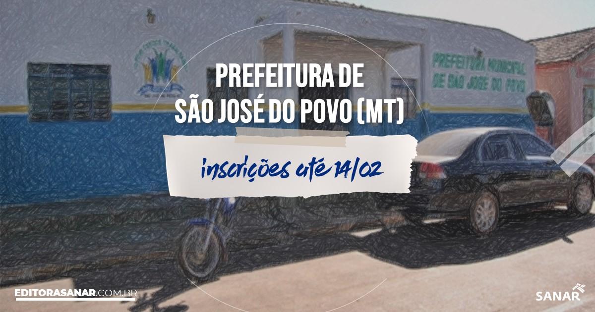 Concurso de São José do Povo - MT: vaga na Saúde para nutricionista!