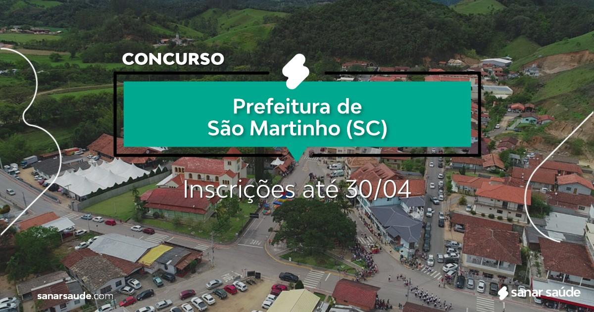 Concurso de São Martinho - SC: salários de até R$11 mil na Saúde!