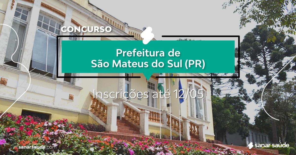 Concurso de São Mateus do Sul - PR:  salário na Saúde de R$10 mil!