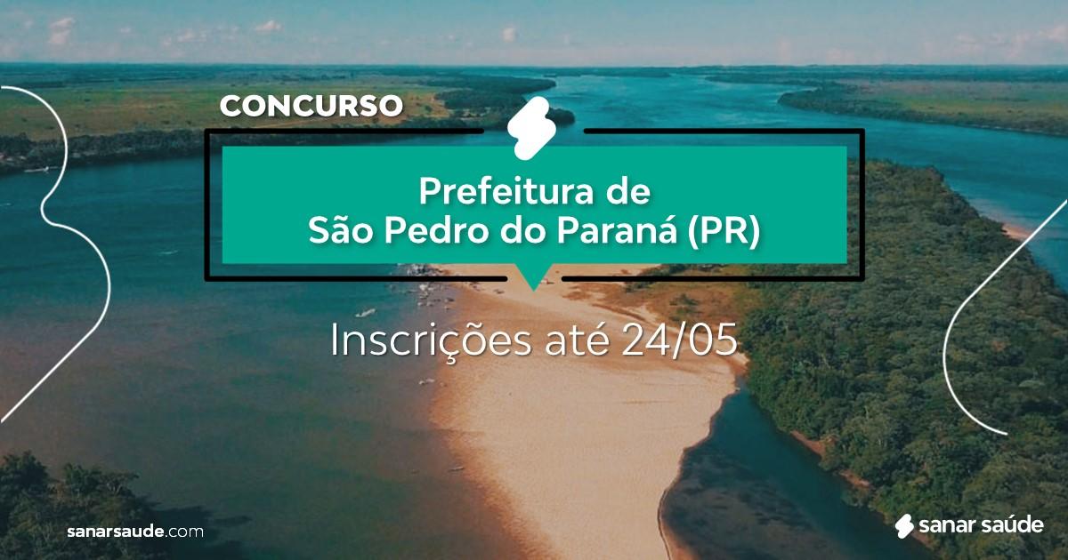 Concurso de São Pedro do Paraná - PR: salários até R$13 mil na Saúde!