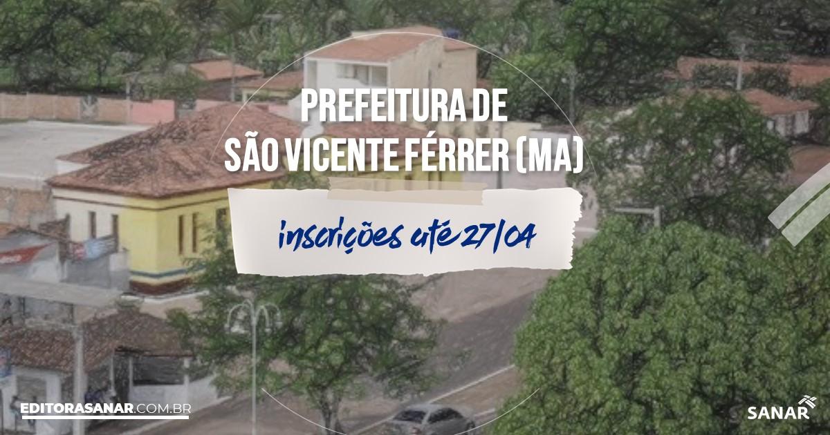 Concurso de São Vicente Férrer - MA: vagas imediatas na Saúde!