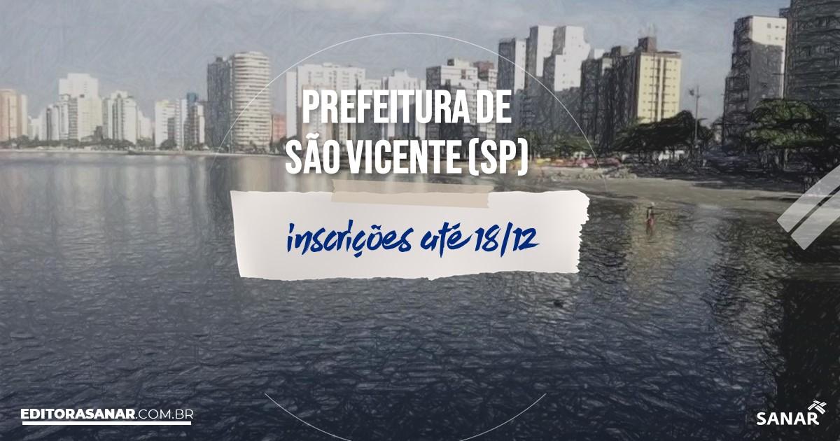 Concurso de São Vicente - SP: vagas na Saúde!